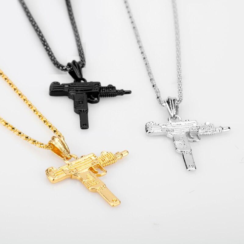 Vintage Gun Choker Pendant & Necklace 4