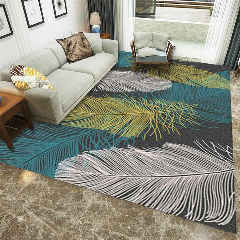 современные перьевые печатные ковры для гостиной коврик прикроватное одеяло коврик для улицы украшения для спальни ковры домашний коврик для пола