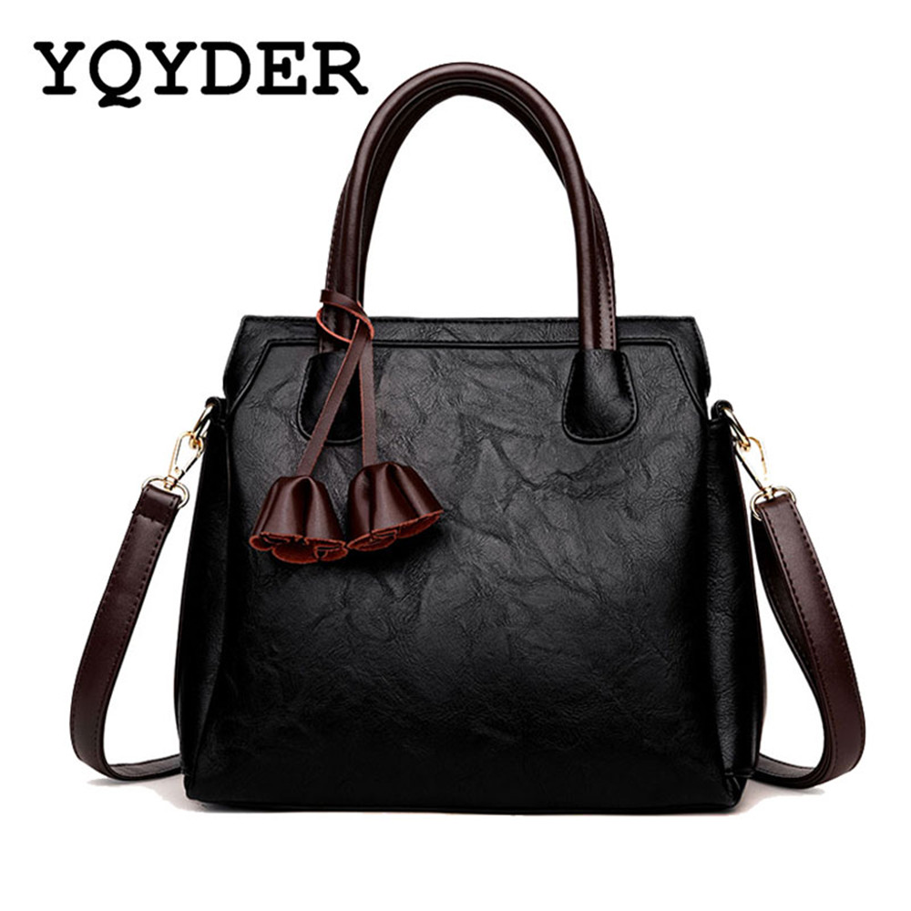 Women Bag 2017 New Fashion Tassel Shoulder Bags Large Capacity Handbags Female Casual Tote Bag Sac A Main leather Messenger Bags women leather handbags shoulder bag women s casual tassel tote bag female vintage handbags sac a main ladies hand bags