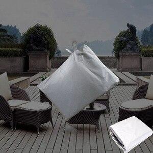 Image 5 - جديد 8 أحجام الفضة مقاوم للماء في الهواء الطلق أثاث حديقة الفناء يغطي المطر الثلوج كرسي يغطي ل أريكة الجدول كرسي غطاء الغبار برهان
