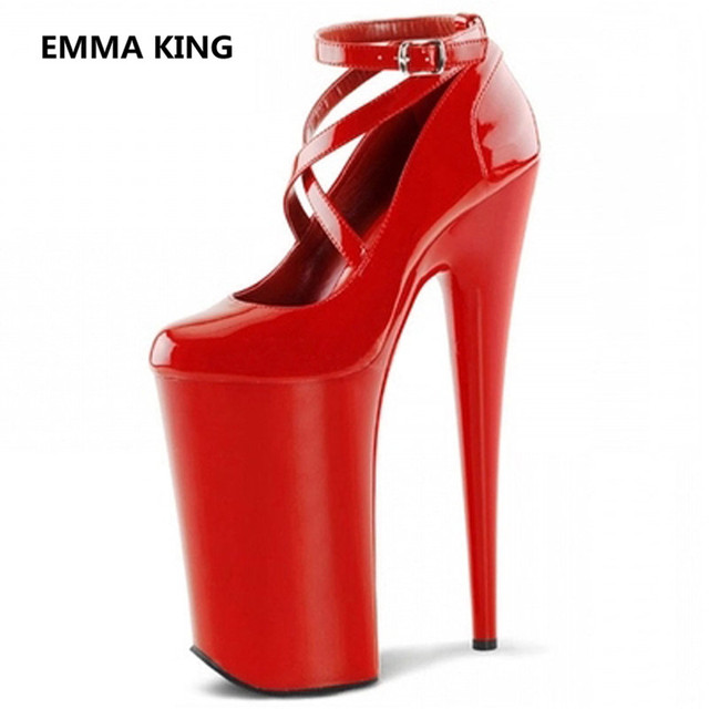 Extreme High Heel 20 cm Heels Designer Platform Shoes Red Black White Pumps Spring Autumn Women Sexy Party Stiletto Heels Shoes