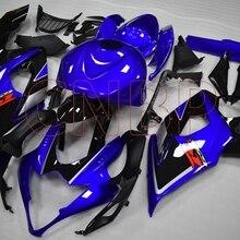 Тела Наборы GSX-R1000 2005-2006 K5 черно-голубые Обтекатели GSXR1000 05 Пластик обтекатели GSXR 1000 2005 без краски