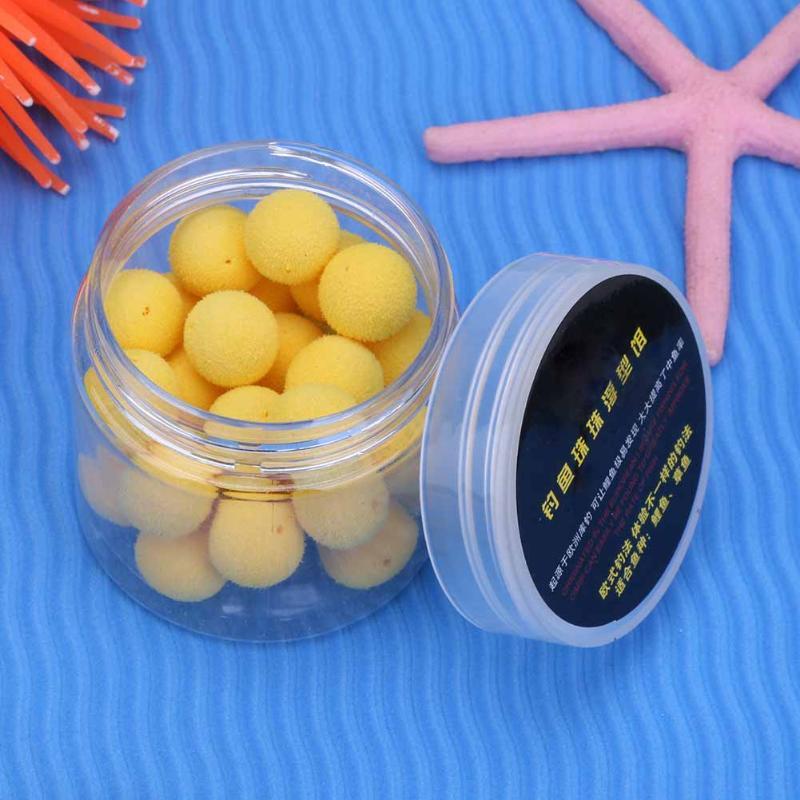 30Pcs/Box Smell Pop Ups Carp Fishing Bait Boilies/ 5Flavors 12mm Floating Ball Beads Feeder Artificial Carp Baits Lure/ Hair Rig