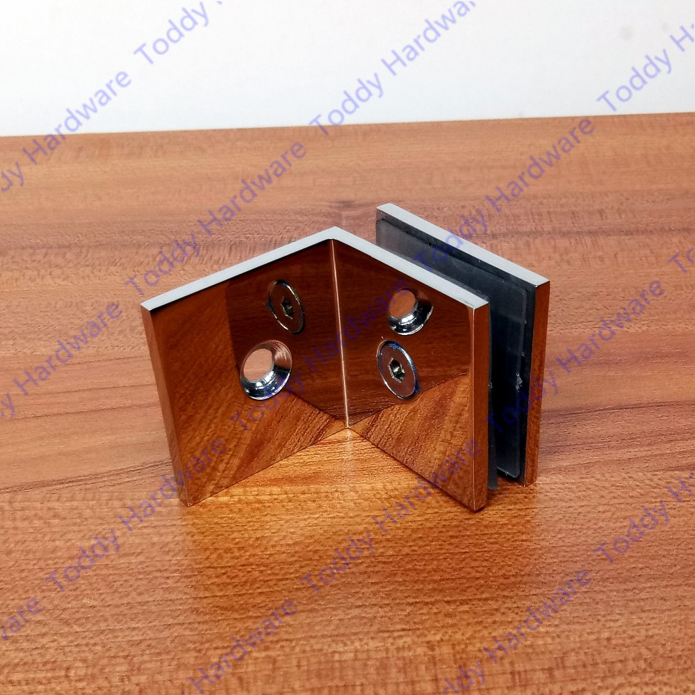 Pure 304 Steel 4mm 90 Degrees Glass Clamp/Door Hinge/Glass Partition Hinge