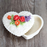 DIYรูปหัวใจกุหลาบกล่องของขวัญช็อคโกแลตที่ทำด้วยมือซิลิโคนแม่พิมพ์วา