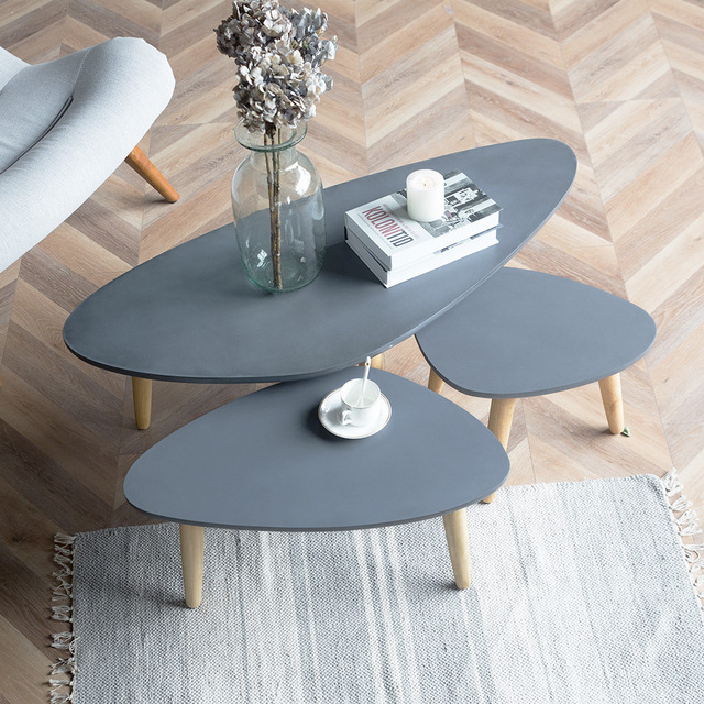 Wooden Sofa Table Legs Spanish Set Loft Style Furniture Modern Wood Living Room Coffee Solid Side Design