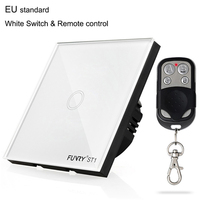 EU Standard ST1 1Gang 170 240V Wall Switch Touch Switch Smart Remote Control Home Automation Crystal