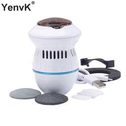 Archivo de pie eléctrico vacío removedor de callos recargable limas para pie limpiar herramientas cuidado de los pies para agrietada y dura de la piel