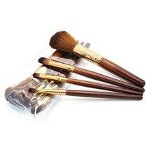 Baru Wanita Profesional 4 pcs Makeup Brush Set alat Comestic Perlengkapan Mandi Kit Wol Merek Make Up Brush Set untuk Kecantikan PL6