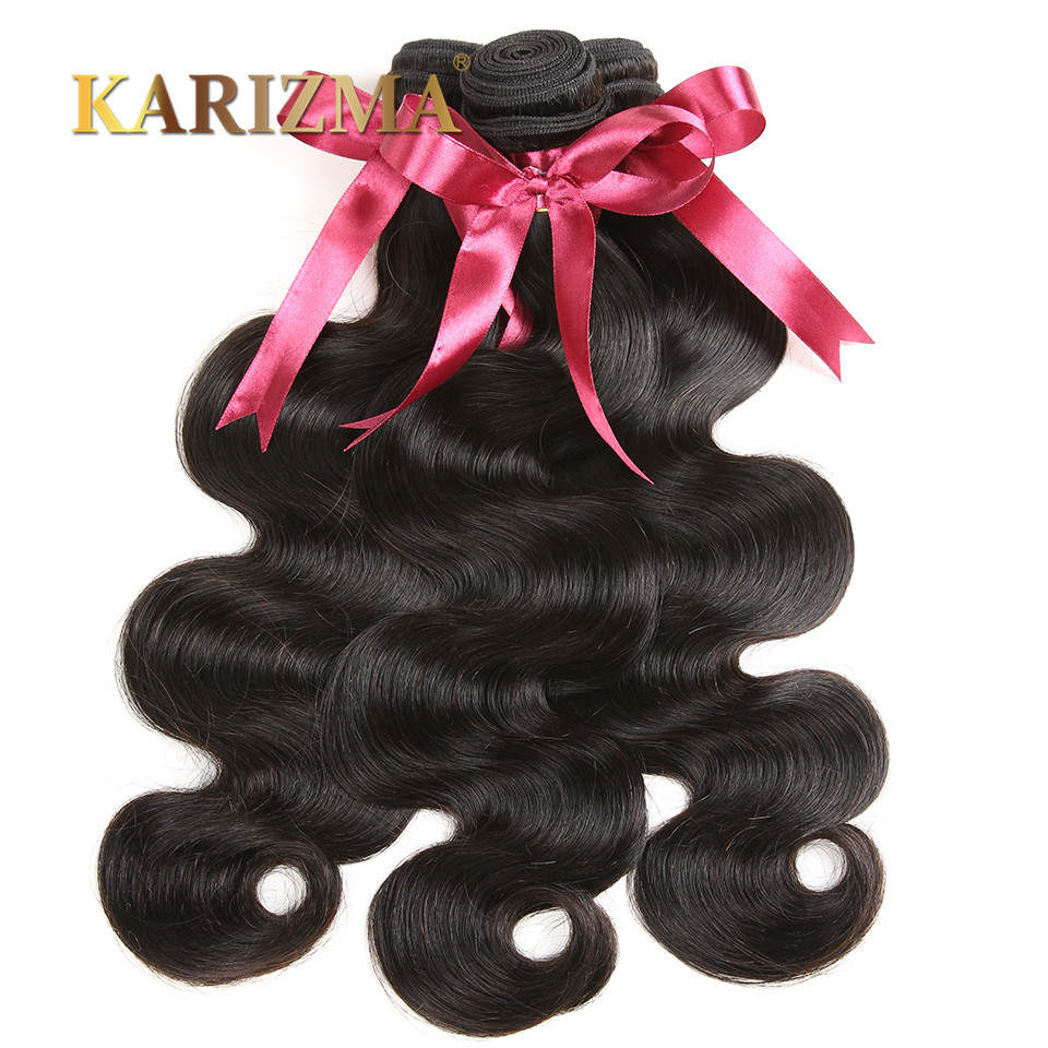 10A Peruvian Virgin Hair Body Wave 4Pcs Unprocessed Human Hair Weave Bundle Peruvian Body Wave Karizma Hair Peruvian Wavy Hair