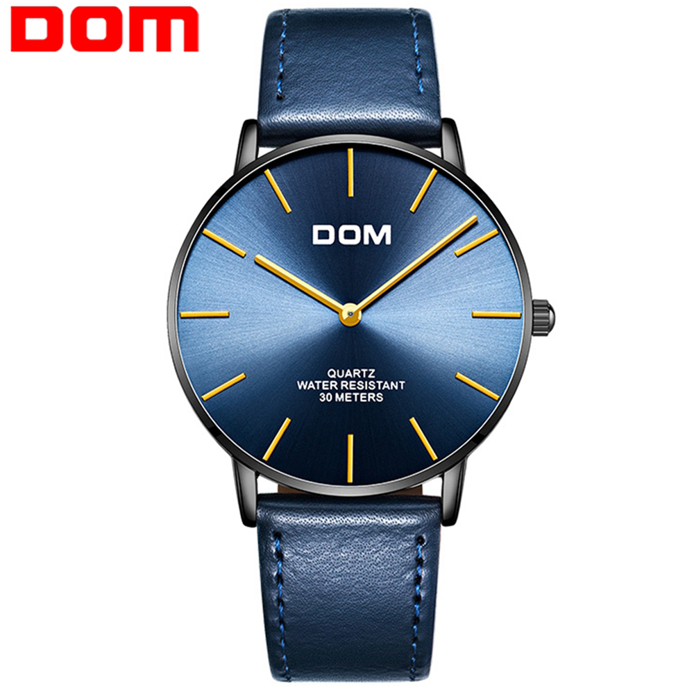 DOM 2019 Fashion Quartz Watch Men Watches Top Brand Luxury Male Clock Business Mens Wrist Watch Hodinky Relogio Masculino
