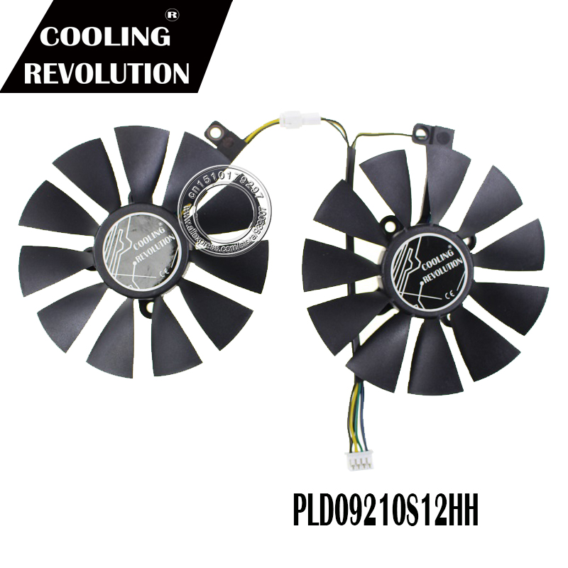 2PCS 87MM Cooling Fan For ASUS DUAL GeForce GTX1060-O6G PLD09210S12HH DC12V
