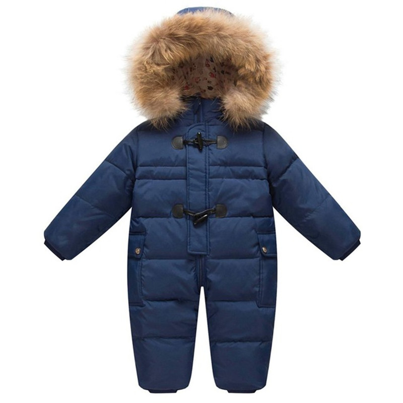 75382dc15 ộ ộ ༽-25 Degree Winter Children Overalls Baby Snowsuit Newborn Duck ...