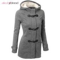 Women Trench Coat 2017 Spring Autumn Women S Overcoat Female Hooded Coat Zipper Horn Button Outwear