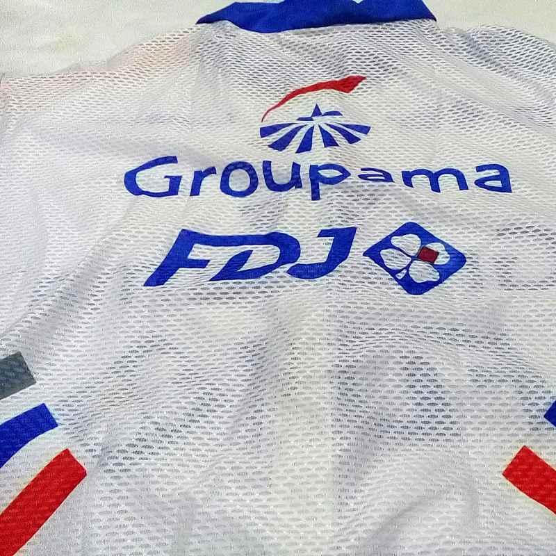 2019 pro team groupama FDJ windstopper cyclisme gilet coupe-vent vélo sans manches maillots coupe-vent gilet à séchage rapide Ropa Ciclismo