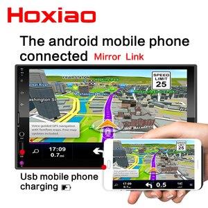 """Image 5 - Reproductor Multimedia con pantalla táctil capacitiva para coche, reproductor con radio 2 DIN, Mirror Link, pantalla táctil de 7 """", MP5, Bluetooth, USB, TF, FM, cámara"""