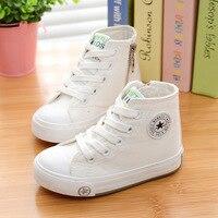 Çocuk Tuval Nedensel Ayakkabı Kız Erkek Sneakers Bahar Sonbahar Çocuklar Okul Spor Koşu Ayakkabı Siyah Kırmızı Mavi Boyutu 24-37