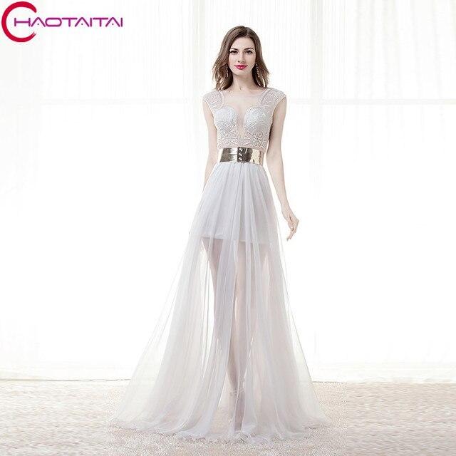Neue Lange Formale Chiffon Weiß Abendkleid A linie Natürliche Plus ...