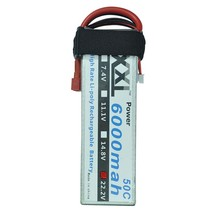 2pcs XXL RC Lipo Battery 6000mAh 22.2V 50C Max 100C For Helicopter Airplane DJI Drone Helicopter