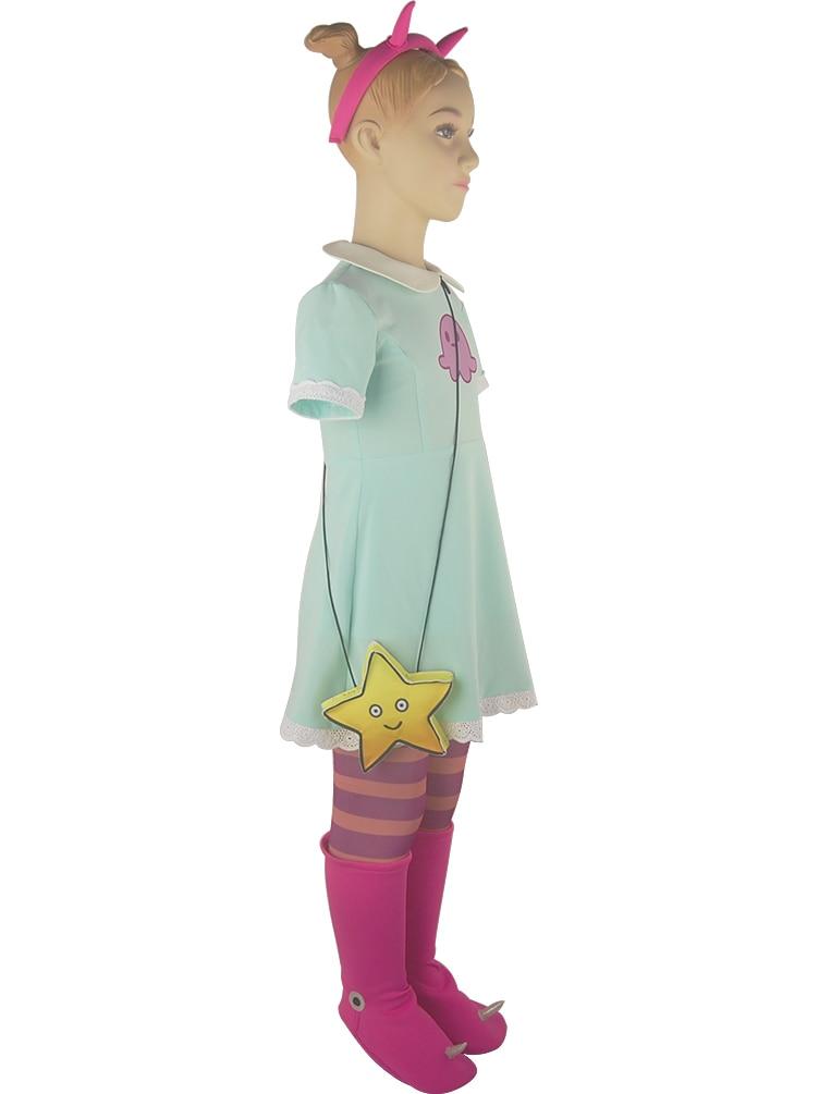 Kids Girls Star vs. the Forces of Evil Princess Star Butterfly Dress ...