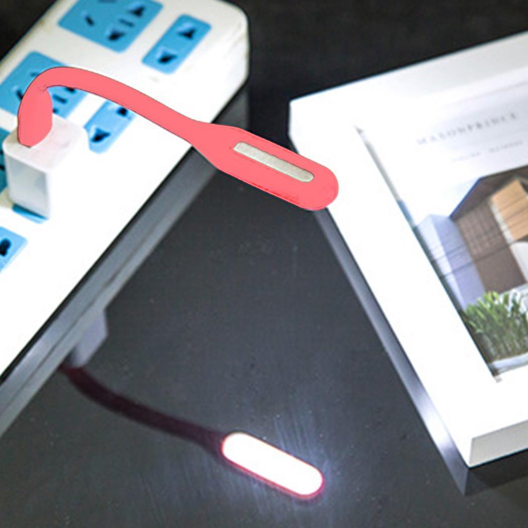 Banco Portátil, Etc. Mini Lámpara De Lectura Para El Hogar, Linterna, Banco Escolar Flexible Para La Mesa De Palo, Led Usb De 5 V Blanco Nuevo