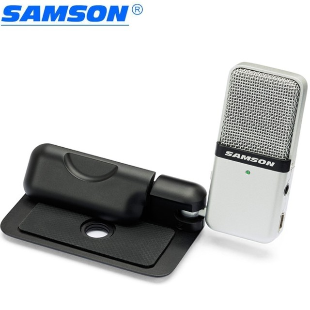 Original Samson Go Mic clip type Mini Portable Recording Condenser Microphone with USB Cable Carrying Case for computer