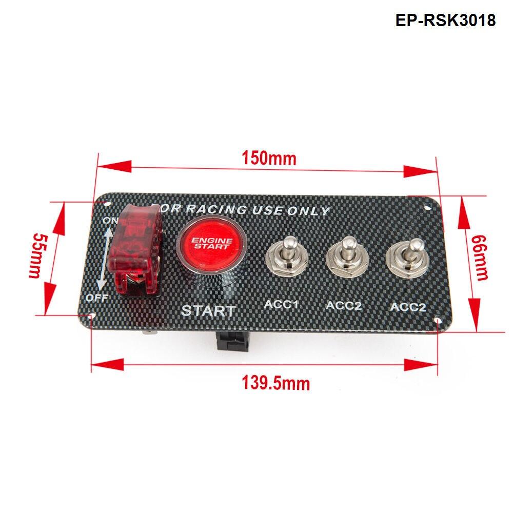 4в1 панель из углеродного волокна для гоночного двигателя автомобиля пусковой переключатель зажигания наборы EP-RSK3018