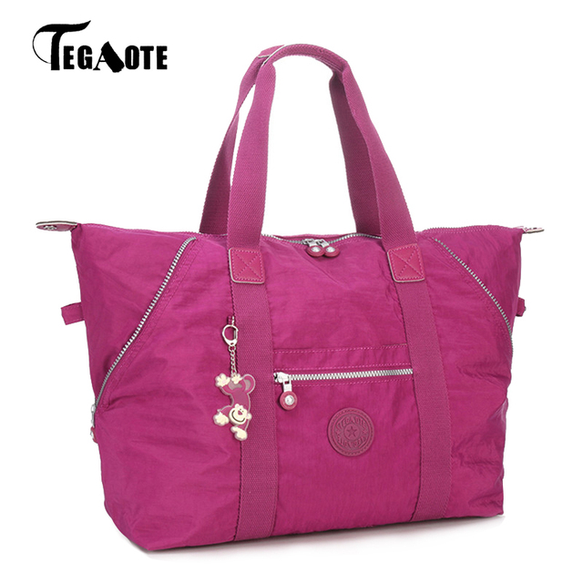 TEGAOTE Top-handle Bag Handbags Women Famous Brand Big Nylon Shoulder Beach Bag Casual Tote Female Purse Sac Femme Bolsa Feminia