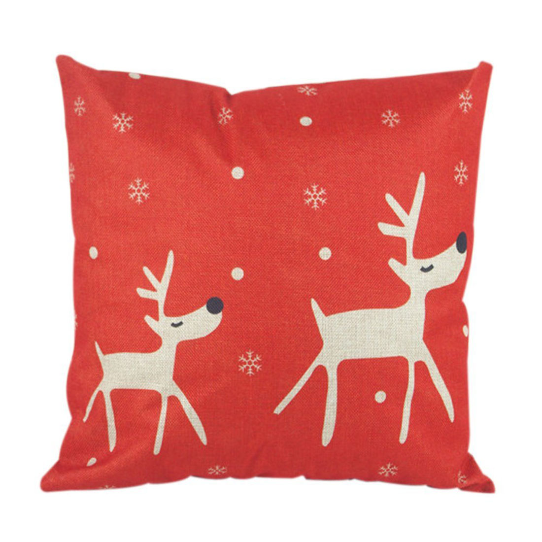 Christmas flax waterproof sweat Interior decor Body pillow cover 45 x 45 cm (red elk) ...