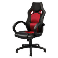 Giantex Modern Office Chair Racing High Back Gaming Chair Ergonomic Computer Desk Armchair Office Furniture HW54590RE