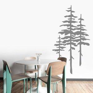 Image 1 - Pine Wall Art Sticker, Modern Natural Room Decor, Detachable Vinyl Applique Bedroom Living Room Home Art Deco Wallpaper 2WS38