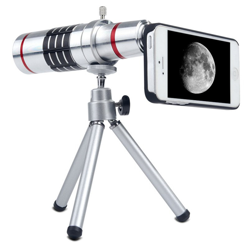 2017 Phone Camera Lenses Kit 18x Zoom Optical Telescope Telephoto Lens For iPhone 4 4s 5 5s 6 6s 7 Plus Cases With Clips Tripod
