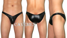 Deep V shaped Elastic leather Briefs * 1742 *sexy men lingerie T-Back Thong G-String T pants Brief Underwear free shipping
