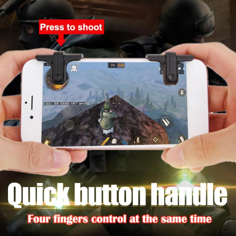 1 Pair STG Mobile Phone Game Controllers Physical Joystick Assist Tools Games Accessories Joysticks for STG FPS TPS Games New