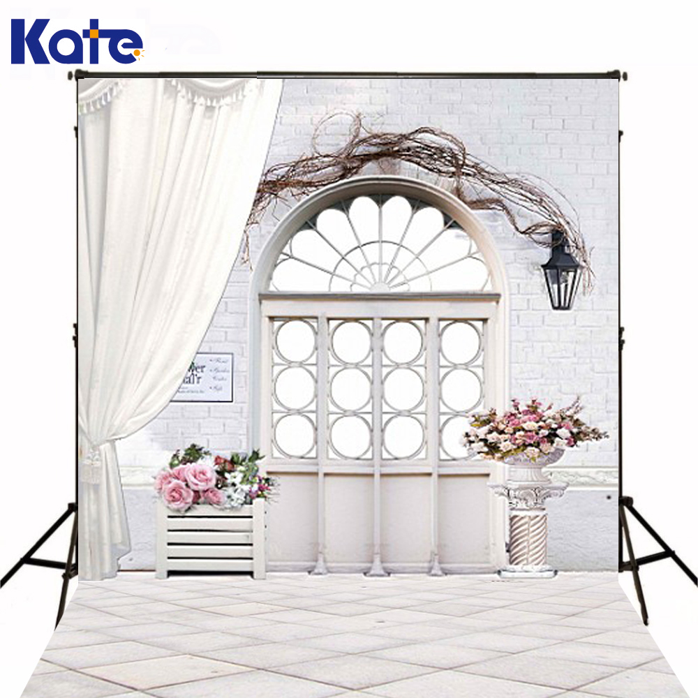 600Cm*300Cm Background Wooden Doors And Windows With Flowers Photography Backdropsthick Cloth Photography Backdrop 3160 Lk
