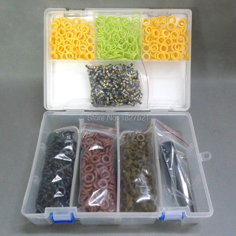 200 Sets di Alta Qualità Tipo Universale Fuel Injector Kit di Servizio di Riparazione dell'iniettore di combustibile filtro a cestello Filtro guarnizione printle cap spacer