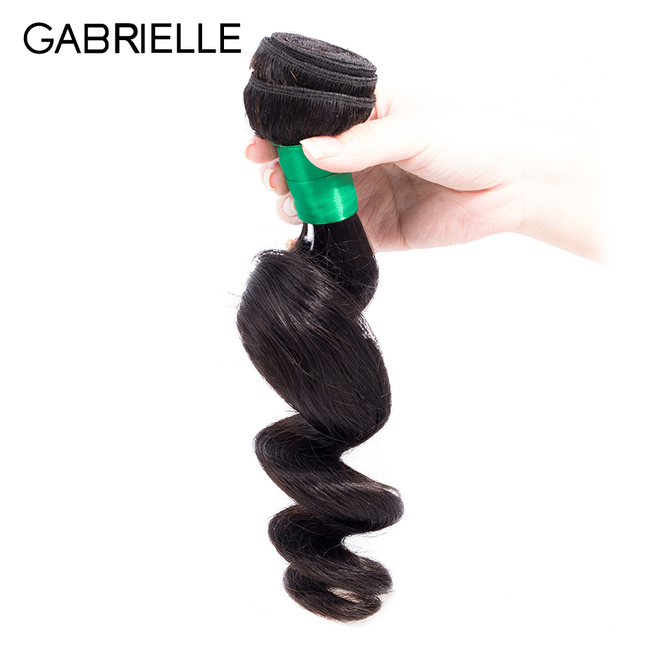 Gabrielle Peruvian Human Hair Loose Wave Bundle 1 Piece 8-26 inch Natural Black Color Non Remy Hair Weaves Free Shipping
