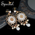 Special New Fashion Gold-plated Drop Earrings Sea Shell Vintage Ear-piercing Stud Jewelry Gifts for Women S1602E
