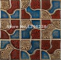 Glazed Kitchen Backsplash Ceramic Mosaic Tiles Mosaic Tiles For Wall Decorative Mosaic Tiling LSQHC09