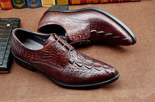 Handmade Italy crocodile shoes Brand Designer Wedding Party Male Dress Shoe Genuine Leather Oxford formal shoes