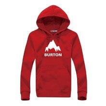 Moleton Masculino 2016 Autumn Burton Print Hoodies Men Sweatshirt Male Pullover Hooded Sportswear Male Print Fleece Tracksuit