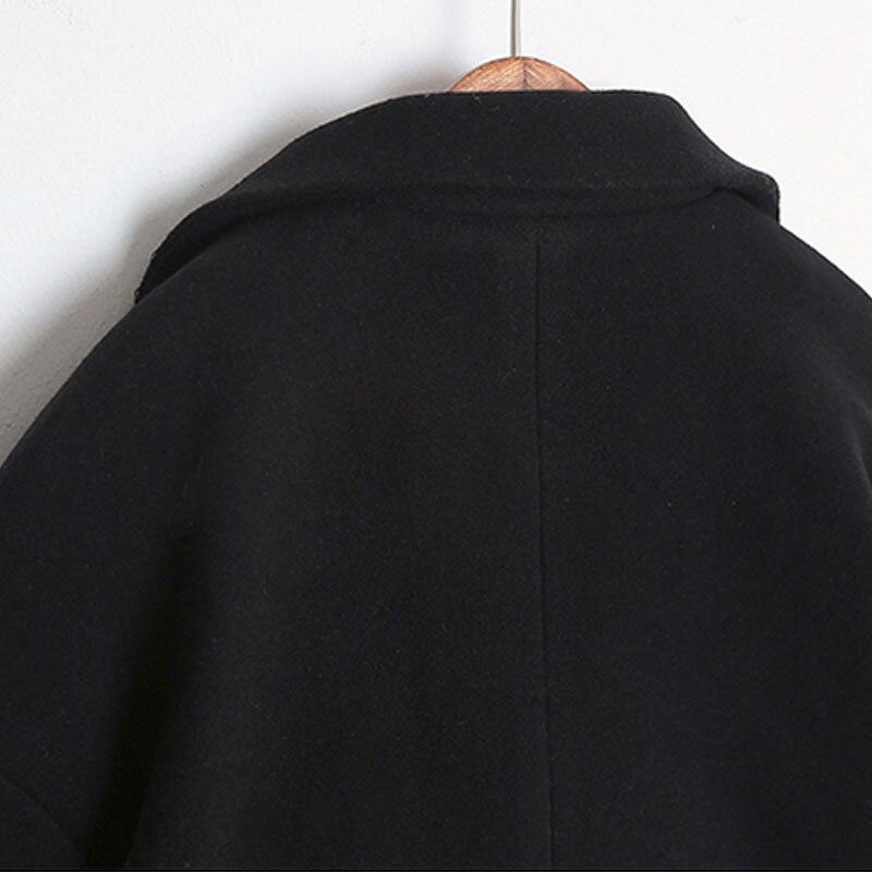 2018 vendita Calda Cocoon cappotto delle donne cappotto femminile cappotto  femminile di autunno della molla sottile miscela cappotto di lana di lana  della ... 13eef79589d