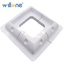 Willone free shipping 2 lots  solar panel mounting bracket white square set kit adhesive bond (4 piece)