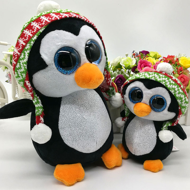 ab98aa7892a 15CM   25CM penelope PENGUIN WITH HAT PLUSH TOY Ty BEANIE BOOS STUFFED  ANIMAL BIRTHDAY GIFT CHRISTMAS HOT SALE