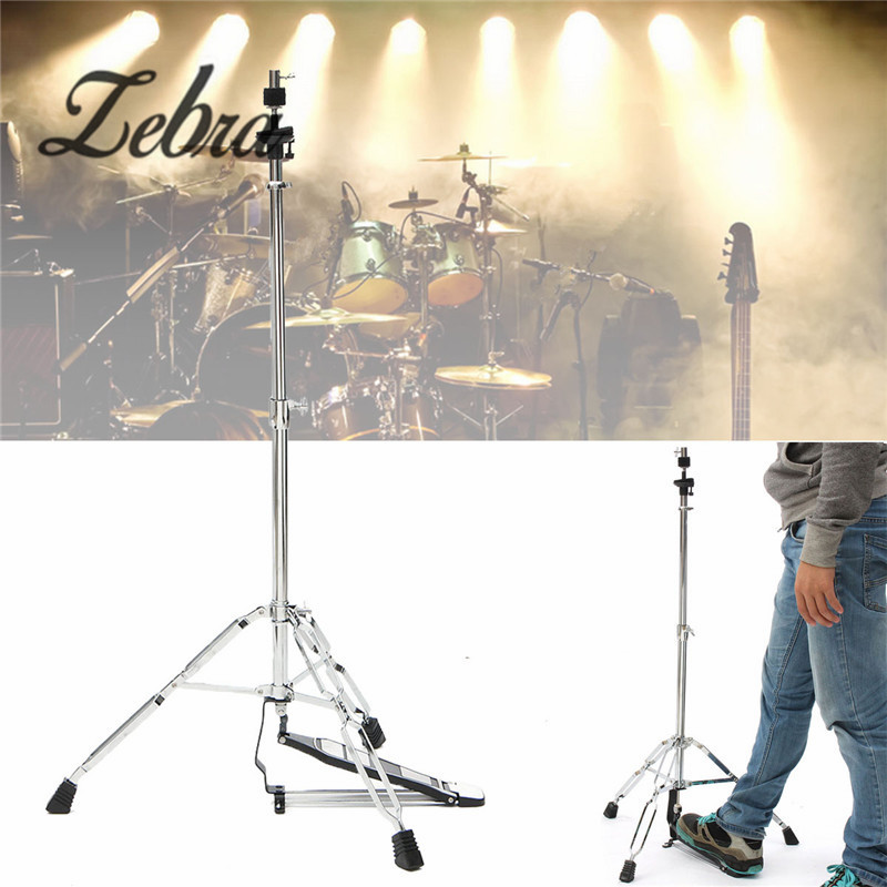 Zebra 24-39 inch Hi-Hat Stand-Griffin HiHat Cymbal Hardware Drum Pedal Holder Mount For Percussion Musical Instruments Parts chang 10 inch drum cymbal ab stage splash cymbals
