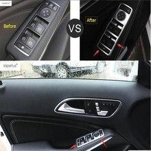 цена на Lapetus Accessories For Mercedes Benz GLA 200 220 X156 2015 2016 2017 Inner Door Handle Holder Window Lift Switch Cover Kit Trim