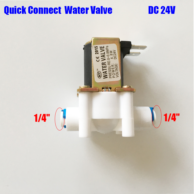 water filter Quick connect Electric Water Valve 24V DC 1/4