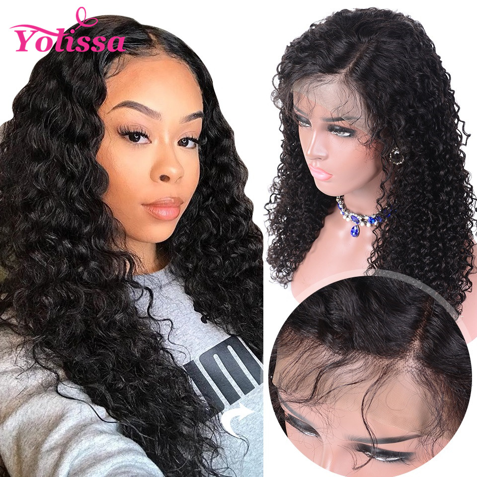 Deep Wave Lace Front Human Hair Wigs Brazilian Lace Wig Humain Hair Pre Plucked 13x4 Lace Wig With Baby Hair Remy Hair Wigs Human Hair Lace Wigs