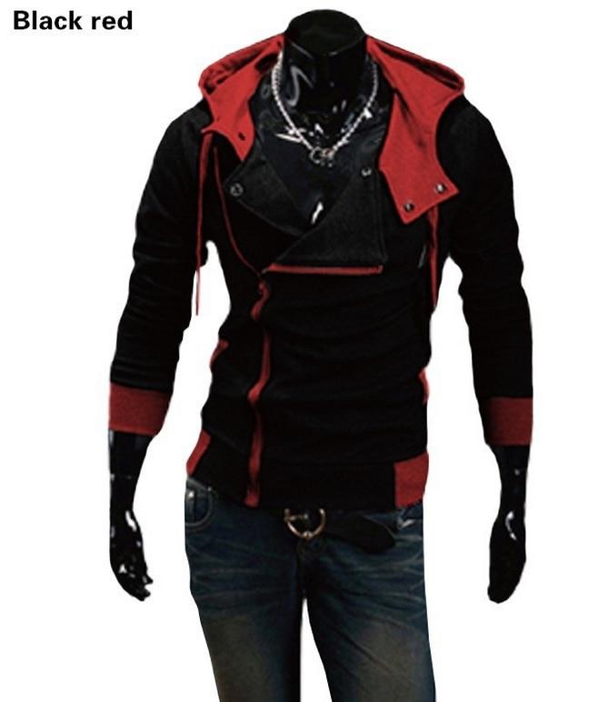 Осень 2017 г. и зима Для мужчин модный бренд Повседневное тонкий кардиган Assassin Creed Толстовки Толстовка Верхняя одежда M-6XL (Азиатский Размеры)