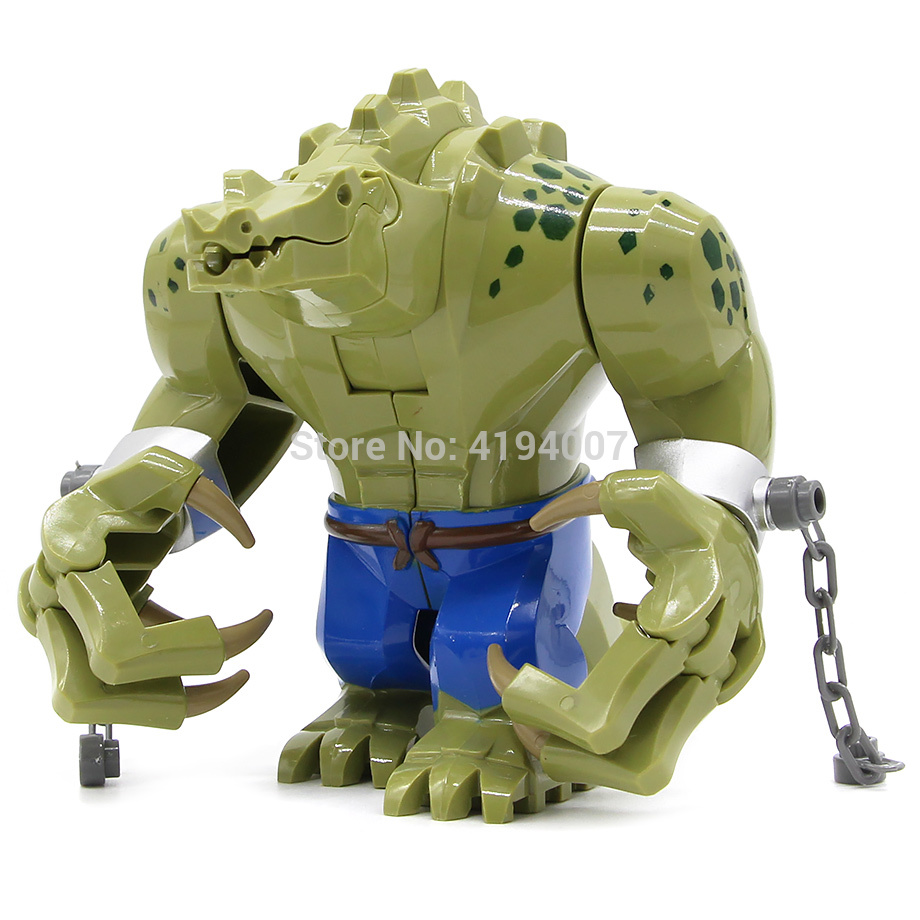 DC Killer Croc Blocks Figure Creative Animal Building Blocks Plastic Toys For Children Kids Gift Toys Animal Building Legoing
